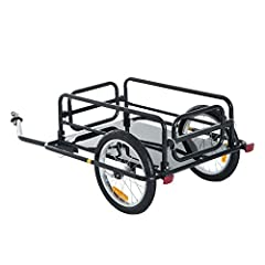 Our newest model of cargo trailer attaches to any bicycle and has plenty of space for groceries and running routine errands. It's sturdy steel frames make this cart exceptionally durable and can hold up to110lb! Easy assembly and fold down. (...