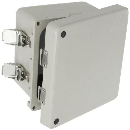 (BUD Industries NFL-6630 Fiberglass NEMA Box with Latched Cover, 7-3/4