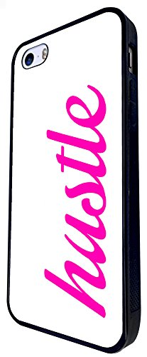 1419 - Cool Fun Trendy Cute Quote Hustle Street (2) Design iphone SE - 2016 Coque Fashion Trend Case Coque Protection Cover plastique et métal - Noir