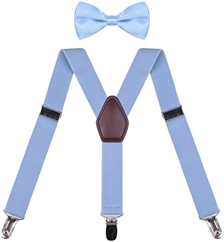 (ORSKY Boys's Suspender with Bow Tie Set Adjustable Y Back)