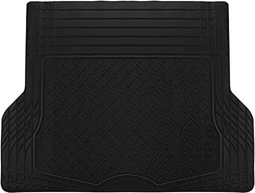 Motorup America All-Weather Cargo Liner/Trunk Mat – Universal Water-Proof Auto Floor Mat – All-Season Car Mats for Automotive Use – Car, SUV, Truck, Van, Pickup – Black