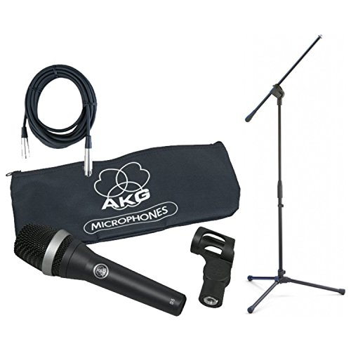 Akg Clip Mic - AKG D5 Supercardioid Microphone Bundle w/Mic Clip, Bag, Boom Stand, and 20' XLR Mic Cable