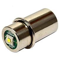 HQRP Bombilla LED de alta potencia 3w para Maglite 3D 4D 5D 6D /3C 4C 5C 6C /3-4-5-6 Linternas antorcha de celda D /C Actualización de bombilla más HQRP Coaster