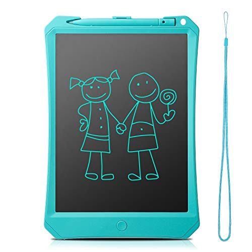 FlyHi LCD Writing Tablet 10 New Gen Electronic Writing & Drawing Doodle Board, Handwriting Paper Drawing Tablet, Kitchen Memo Notice Fridge Board, Daily Planner, Gift for Kids and Adults (Blue)