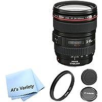 Canon EF 24-105mm f/4L IS USM Lens AL'S VARIETY Premium Lens Bundle (White Box, Bulk Packaging)