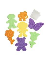 Perler Fuse Bead Pegboards 7-Pack-Boy/Girl/Bear/Monkey/Butter...