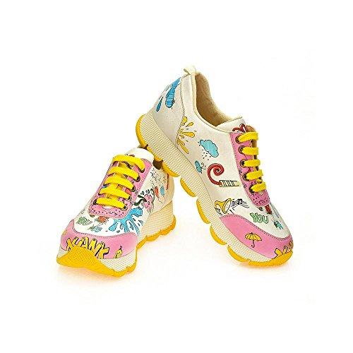 Goby UK Femme Sneakers Chaussures (SPS100-101-102-200-201-202) LTkfcJdZT