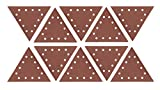 WEN 6377SP240 Drywall Sander 240-Grit Hook & Loop 11-1/4'' Triangle Sandpaper, 10 Pack