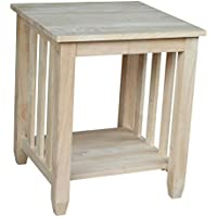 International Concepts BJ6TE Mission Tall End Table, Unfinished