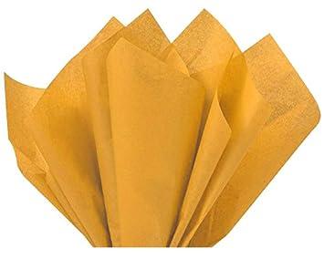 Gold Bulk Tissue Paper 15 Inch x 20 Inch - 100 Sheets