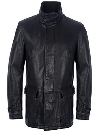d3a63d8635 Z Zegna Leather Jacket (54) at Amazon Men's Clothing store: Leather ...