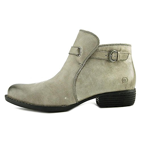 Born Womens Jem Leather Almond Toe Ankle Fashion Boots, Grey, Size 6.0