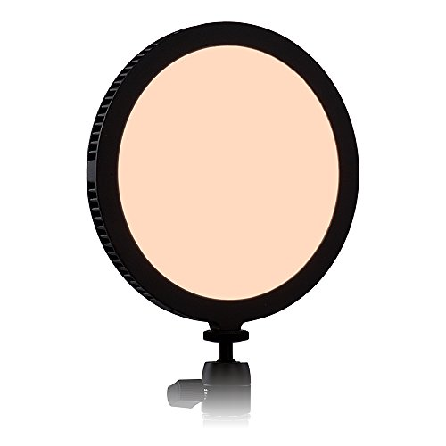 Fotodiox Pro FlapJack LED C-200RS Bicolor Edge Light - 7in Round Ultra-thin, Ultra-bright Professional Dual Color (Daylight/Tungsten) LED, Dimmable Photo/Video Light Kit with Case, Battery & Charger by Fotodiox