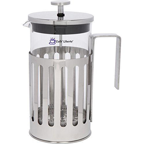Cafe'Liberte' French Coffee/Tea Press – 8 Cup (1 Liter/34 oz) – Polished Stainless Steel Review
