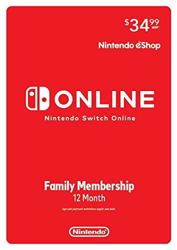 Nintendo Switch Online Family Membership 12 Month - Nintendo Switch [Digital Code] by Nintendo