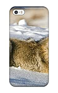 Durable Protector Case Cover With Animal Wolf Hot Design For Iphone 5/5s