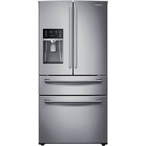 SAMSUNG RF28HMEDBSR French Door Refrigerator, 28 Cubic Feet, Stainless Steel (4 Door Refrigerator)