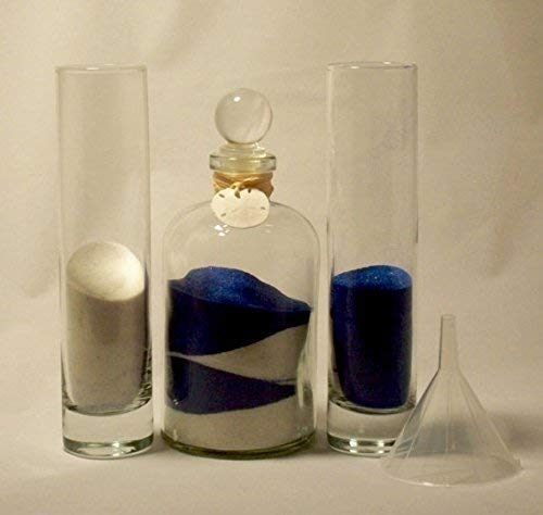 (Personalized Unity Sand Ceremony, Wedding and Anniversary, Euro with Glass Stopper)