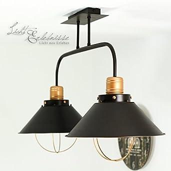 XL Vintage Deckenleuchte Deckenlampe Hergestellt In Der EU Fr Wohnzimmer Oder Schlafzimmer Rustikale Beleuchtung