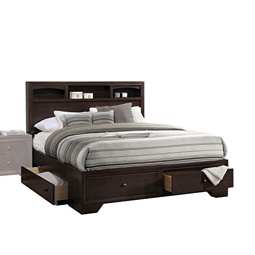 madison ii espresso queen bed