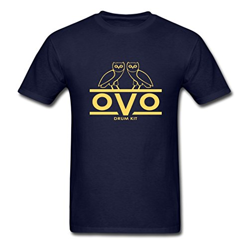 FangTS Creative OVO Sound Short Round T-Shirts Navy X-Large
