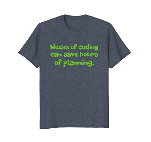 Mens Funny coding software development computer tshirt 2XL Heather Blue
