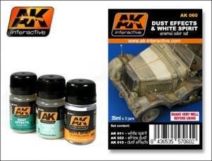 AK00060 AK Interactive - Dust Effects and White Spirit Set model making detail   B00AMB5Y8A