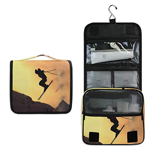 SLHFPX Alpine Skiing Toiletry Bag Multifunction Cosmetic Bag Portable Makeup Pouch Waterproof Travel Hanging Organizer Bag for Women Men - Makeup Case Bratz