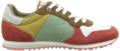 Pepe Jeans London Verona W Colors, Zapatillas para Mujer Multicolor (Burnt Orange)