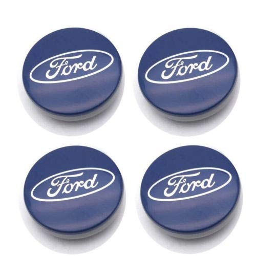 ZKHXFS 4 pcs 54mm Wheel Center Hub Caps Cover Apply to for Focus Fiesta ST Mondeo C-Max Fusion ()
