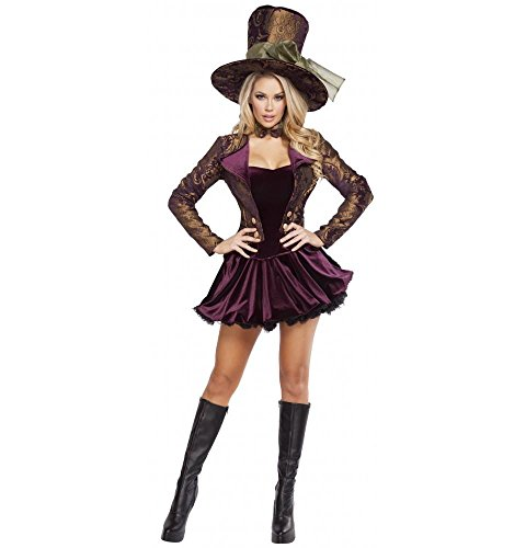 Roma Costume Women's 5 Piece Tea Party Vixen, Purple, Small