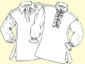 1700's Colonial Shirt Pattern (Medium- XL) (Hancock Costume Patterns)
