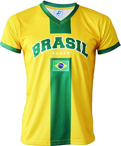 Son Chacun Taille Adulte Bresil Pays Maillot A Football Homme 5Sf1gg
