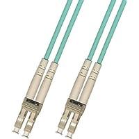 50M LC-LC Multimode Duplex 10 Gigabit 10gb Fiber Optic Cable (50/125) Aqua 50 meter
