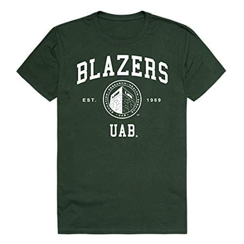 UAB University of Alabama at Birmingham Blazer NCAA Seal Tee T-Shirt Forest - Birmingham Alabama Seal Ncaa Blazers