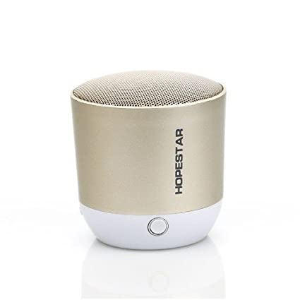 Click Enterprises High Quality Portable Bluetooth Mobile/Tablet Speaker  GOLD / BLACK Stereo Channel   For Hopestar H9
