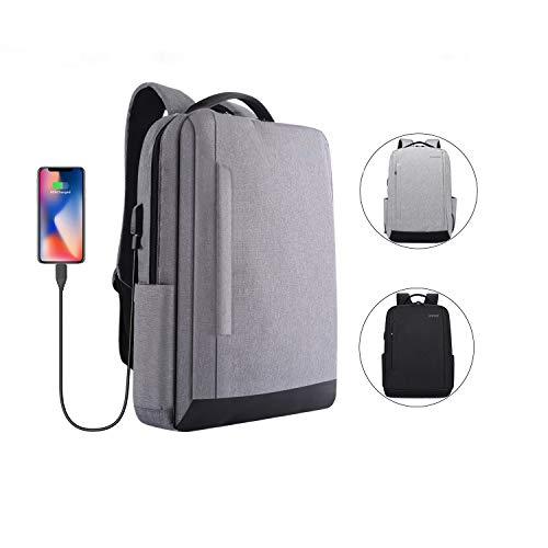 BQZYX+ Laptop Backpack,School Backpack with USB Charging Port,Water Resistant College School Bookbag Computer Backpack for College Student & Women & Men Fits 15.6