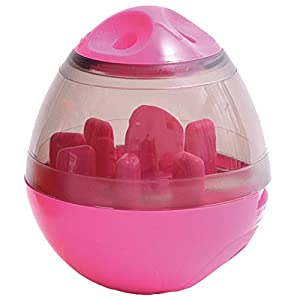 PET C IQ Treat Ball Interactive Food Dispensing Dog Toy Feeding Puzzle Funny Toy Ball Feeder Pink Click on image for further info.