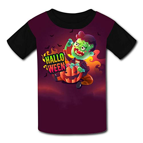 (Unisex Shirts, Creepy Halloween Realistic Design Casual Short Sleeve T-Shirt Child 3D Printed Tees for)