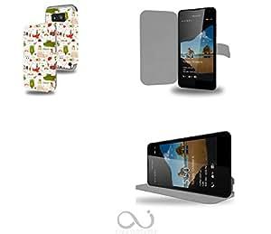 Italie Rome Venise Collection Pattern Funda de Cuero para Microsoft Lumia 550 Flip Case Cover (Estuche) PU Cuero - Accesorios Case Industry Protector