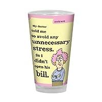 Tree-Free Greetings PG02857 Aunty Acid Artful Alehouse Pint Glass, 16-Ounce, Unnecessary Stress