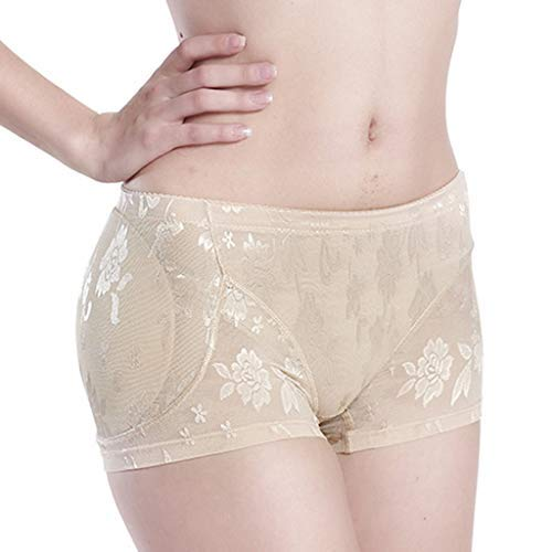 33b85be1ef1 Longra Plus Size Lingerie Sexy Panties Women Interior Push Up Fake Ass  Underwear Padded(Beige