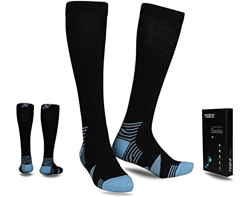 S4S Compression Socks - Best Results and Recovery Formula for Legs Regeneration - For Running, Medical, Flights, Maternity, Shin Splints, Diabetic