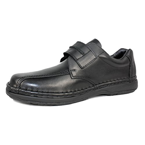 Rieker 12951-00 Heren Heren Alfred Band Zwart Lederen Schoen