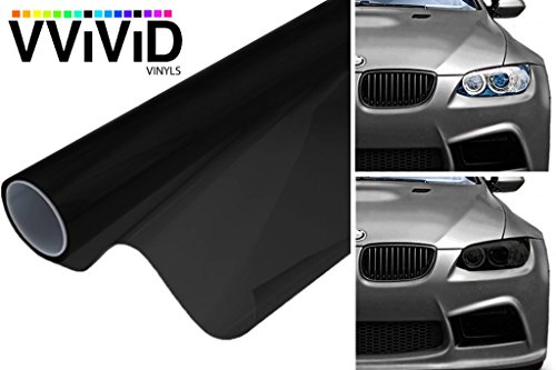 VViViD Dark Black Headlight Taillight Tint Air-Release Vinyl Wrap Film Roll (1.49ft x 60