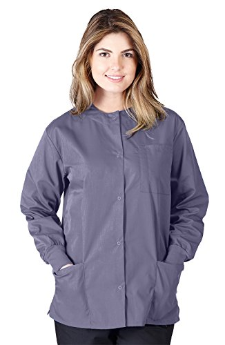 Natural Uniforms Women's Scrub Warm Up Jacket (Plus Sizes Available) (X-Large, ()