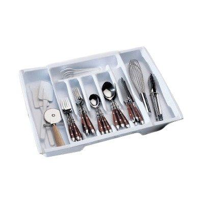 Rubbermaid 2974RDWHT Adjustable Cutlery Tray & Drawer Organizer