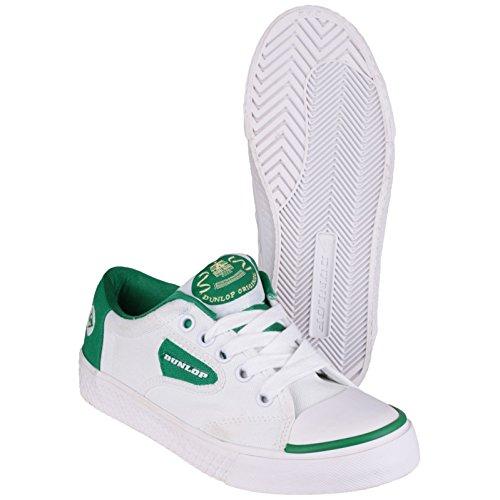 Green Flash Unisexe Dunlop Du1555 Chaussures De Sport Baskets Lacet Blanc boEDZu