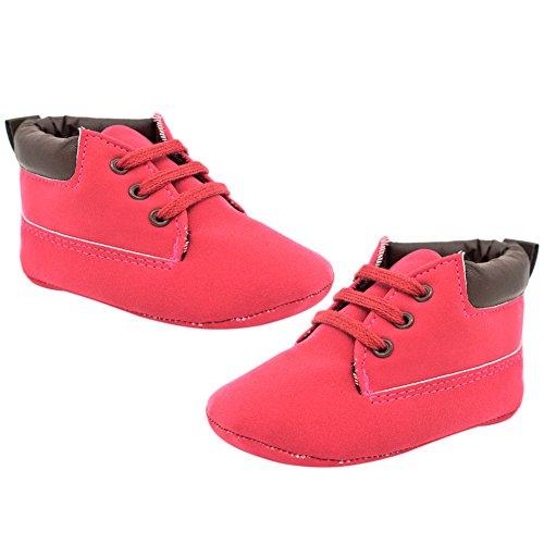 e2381b795 EtrackOnline Baby Sneakers Zapatos primeros pasos de Otra Piel para niño  Red Calidad Alto
