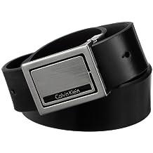 Calvin Klein Men's Four-In-One Reversible Plaque Belt